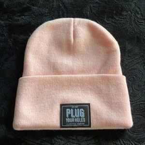 Plug Your Holes | Pink Beanie